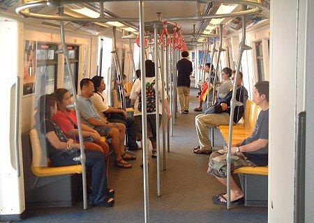 Inside the Sky Train