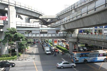 Sky Train Tracks at Siam Square