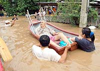 chest-deep flood