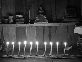 Buddha by candlelight
