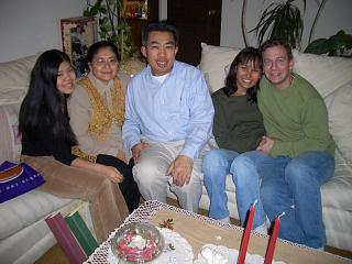 Lex, Anh, their daughter, Pon, and I