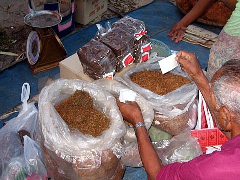 sampling some tobacco