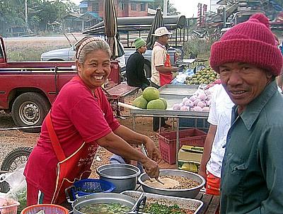 vendors at village market