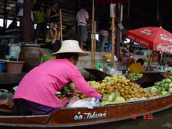 fruit on boat