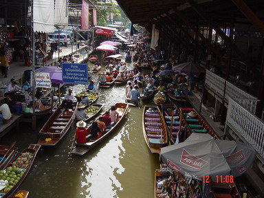 surroudings of floating market