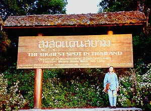 Sign at the Summit of Doi Inthanon
