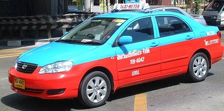 Thai taxi, taxi, bangkok, thailand, Thai taxis