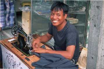 smiling Thai worker